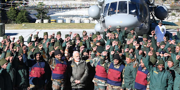 Narendra Modi spends Diwali with army and ITBP personnel