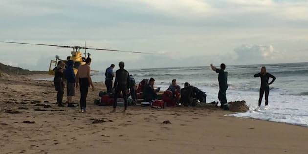 The incident occurred around 4pm when the boy was surfing with friends.