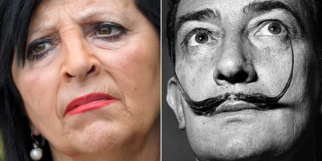 Pilar Abel y Salvador Dalí.