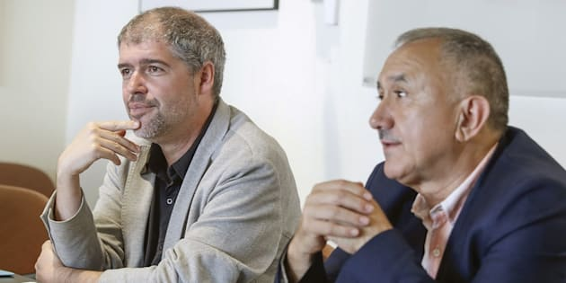 Unai Sordo y Pepe Álvarez, en una imagen de archivo.