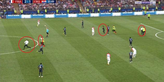 Intrusions de quatre personnes sur la pelouse en finale — Mondial