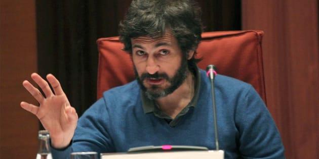 Oleguer Pujol, durante su declaración ante la llamada 'comisión Pujol' del Parlament de Cataluña.