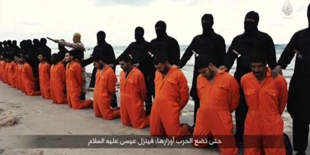 Egipcios cristianos detenidos y ejecutados por el Estado Islámico.