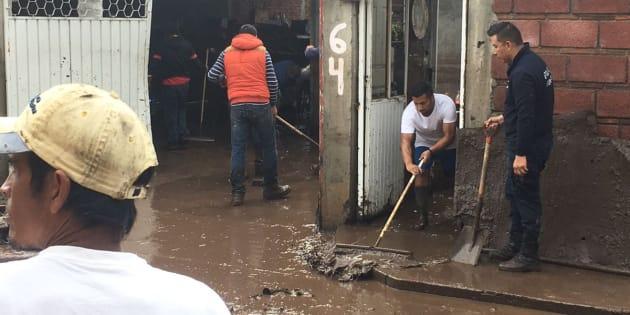 De acuerdo con informes de Protección Civil Estatal, los daños por las fuertes lluvias se concentraron en al menos 14 colonias.