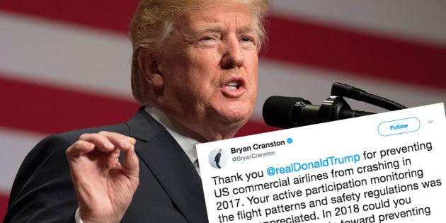 Trump s'auto-congratule pour le record de sûreté aérienne en 2017, Internet se moque de lui