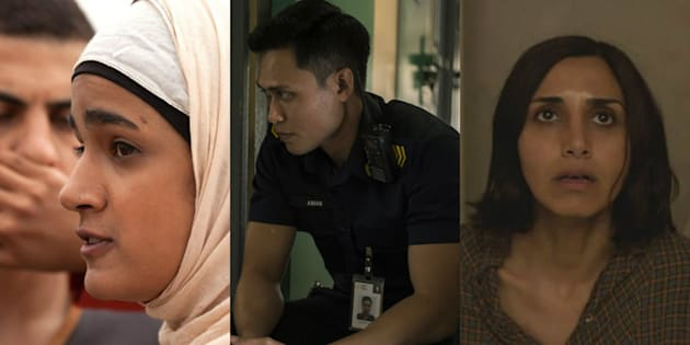 (L-R) Stills from 'Sand Storm', 'Apprentice', and 'Under The Shadow'.