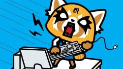 La nueva amiga de Hello Kitty es una osa panda oficinista, que bebe cerveza y escucha heavy