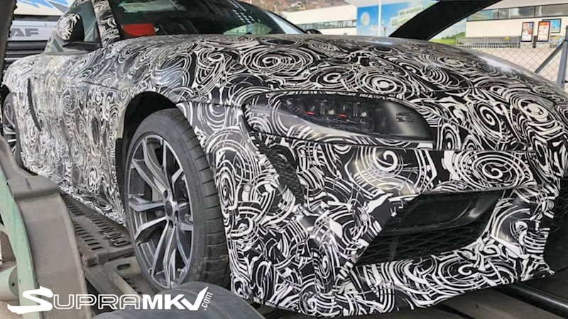Toyota Supra prototype spy shots seem to confirm design in leaked images