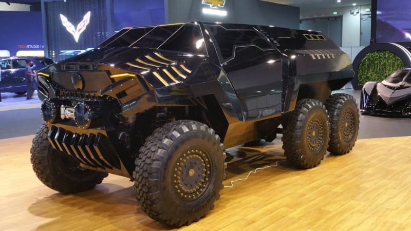 devel sixty 6x6 suv revealed in dubai autoblog. Black Bedroom Furniture Sets. Home Design Ideas