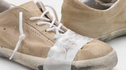 Cette paire de chaussures est neuve et coûte beaucoup plus cher que vous ne le