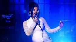 Cardi B Reveals Baby Bump On 'Saturday Night