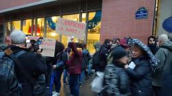 Une vingtaine de manifestants contre la lecture d'un texte de Charb dans une université