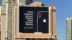 Apple se paye une affiche géante à Las Vegas pour narguer ses