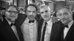 Iñárritu y Lubezki ganan oootro Oscar y Cuarón presume foto con sus