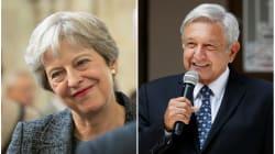 AMLO recibe felicitación de Theresa May, primera ministra de Reino