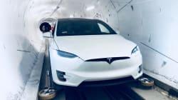 Elon Musk dévoile ses tunnels pour foncer à 240 km/h sous une