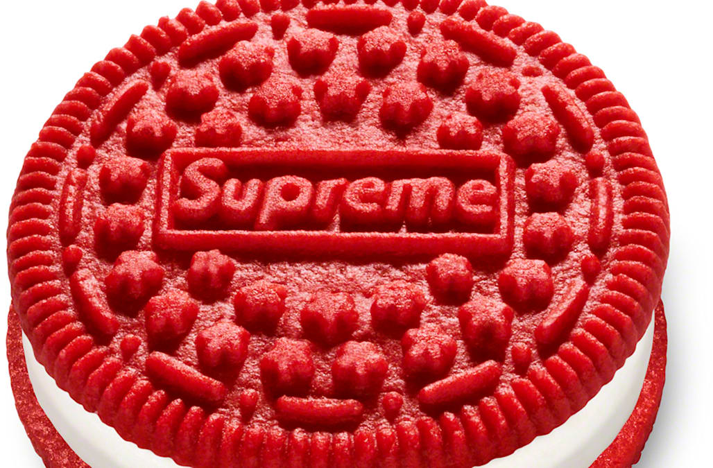 Supreme and Oreo are collaborating on a new, fashion-forward cookie — but they're not cheap