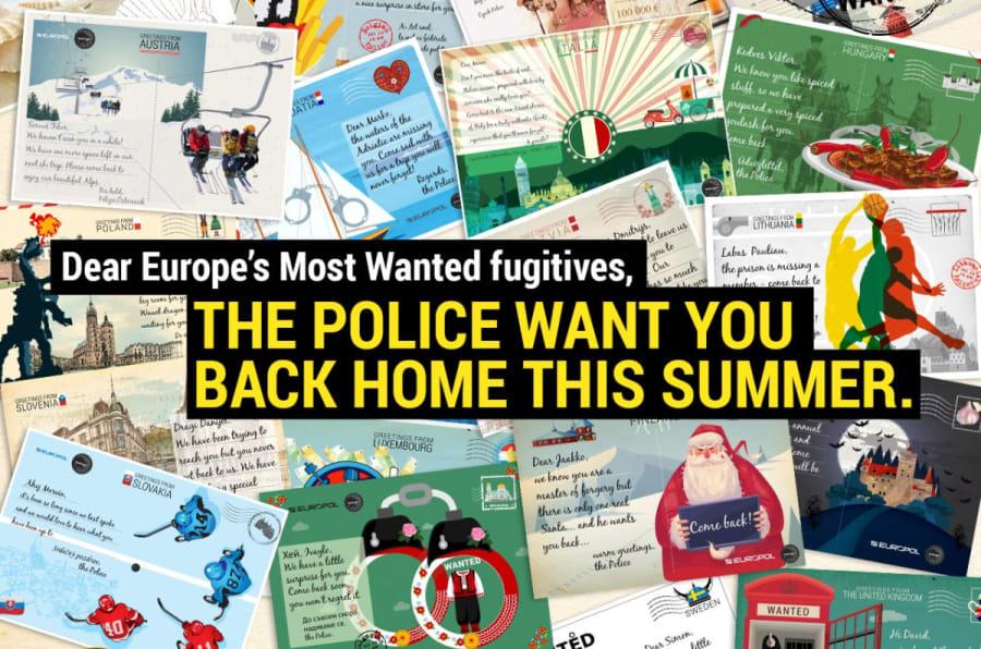 Cartel de la campaña de Europol.
