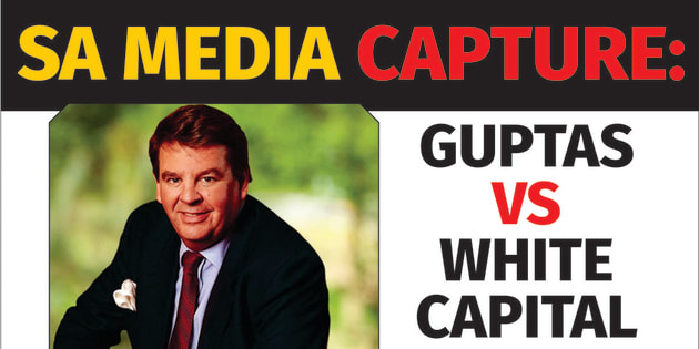 A graphic from The New Age website on an article complaining that the South African media has taken sides against the Gupta-owned media group. The New Age group is accused of benefiting from improper deals with the SABC, which a leaked parliamentary report says should be cancelled.