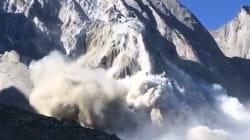 Les images de l'impressionnant glissement de terrain qui a fait 8 disparus en