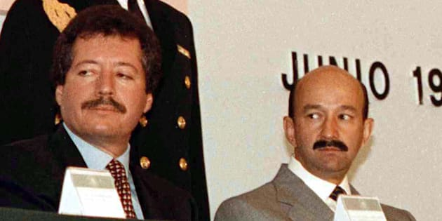 3 de junio de 1993. Luis Donaldo Colosio y Carlos Salinas de Gortari, presidente de México, en una reunión de intelectuales con el mandatario.