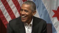 La petite vanne d'Obama pour son retour sur la scène