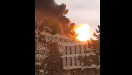 L'université Lyon 1 touchée par un violent incendie, 3 blessés