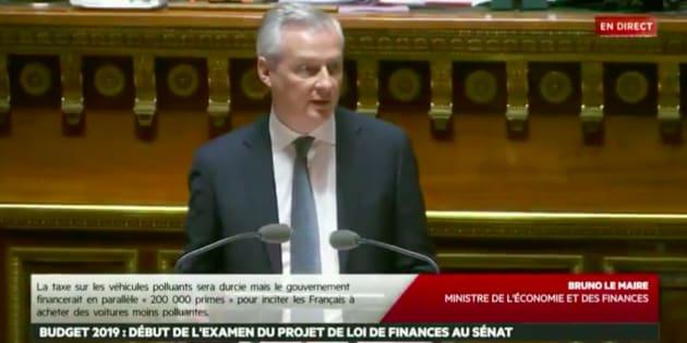 Bruno Le Maire défendait ce 22 novembre le Projet de loi de finances pour 2019.