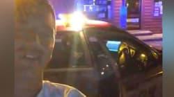 Il vole une voiture de police et se filme en