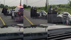 La policía detiene a Batman en plena carretera