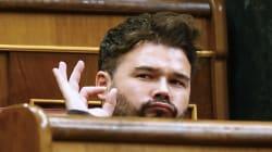 Rufián se mofa del Congreso del PP con estas fotos de la trama