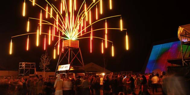 No, it's not Burning Man, it's Melbourne. The massive tree called Echinodermus will light up like an alien eco-system.