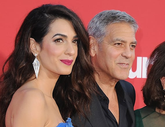 Amal Clooney's gorgeous mother seen with George
