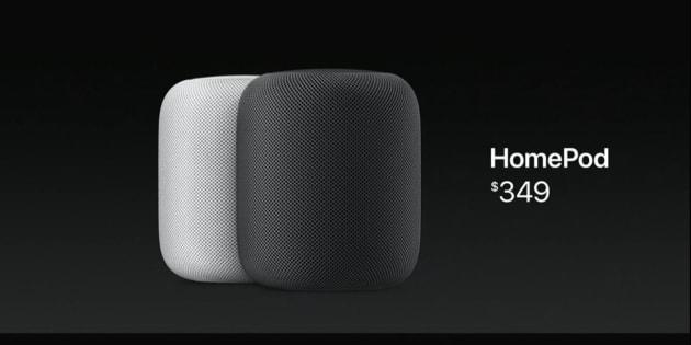 Apple présente HomePod, sa nouvelle enceinte qui fait aussi assistant personnel