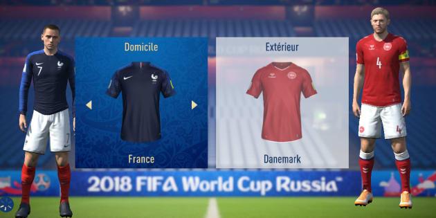 """France-Danemark à la Coupe du monde 2018: l'intelligence artificielle de """"FIFA 18"""" va vous fait peur"""