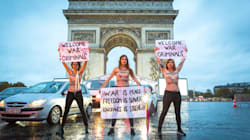 Les Femen sous l'Arc de triomphe pour dénoncer les