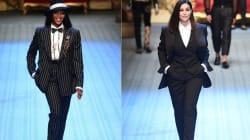 Naomi Campbell et Monica Bellucci jouent les mannequins surprises à la Fashion Week de