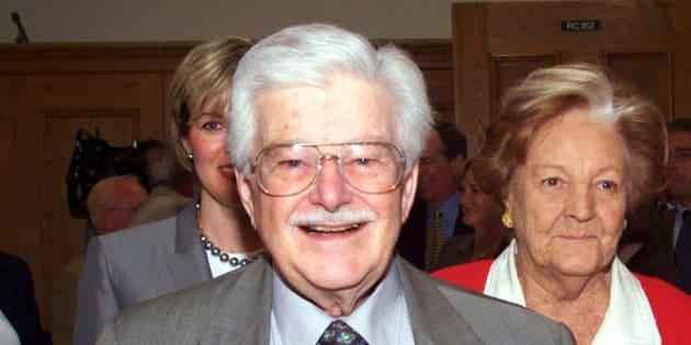 Paul Gérin-Lajoie et Corinne Lesage en 2000.