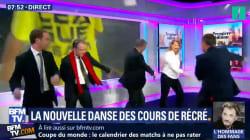 Christophe Barbier et l'équipe de la matinale de BFMTV ont testé la danse du