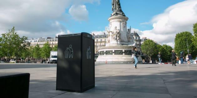 Paris teste ses première poubelles à énergie solaire qui ne débordent pas.
