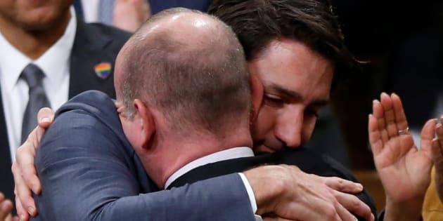 Justin Trudeau avec Randy Boissonnault le 28 novembre 2017