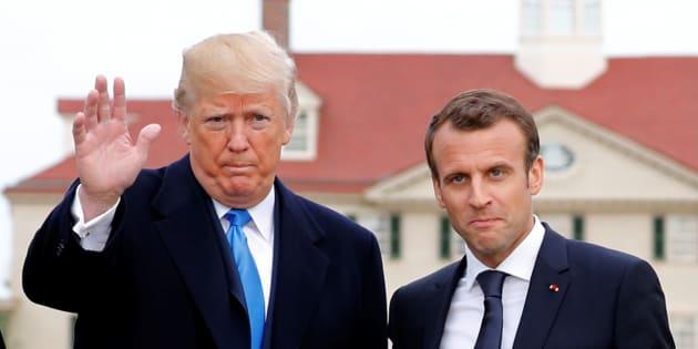 Après les bises et les sourires, place aux sujets qui fâchent entre Trump et Macron