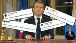 La posture de Macron pendant son allocution vaut le