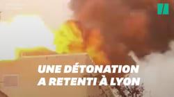 Les images impressionnantes de l'incendie de l'université de Lyon