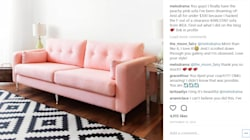 Ikea Couch Hack Will Take Your Love Of Millennial Pink To New