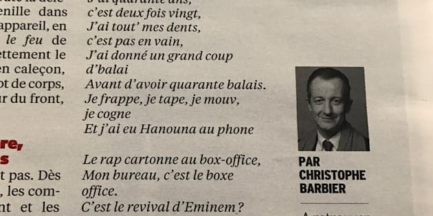 """Ce """"rap"""" d'Emmanuel Macron imaginé par Christophe Barbier est loin de faire l'unanimité"""
