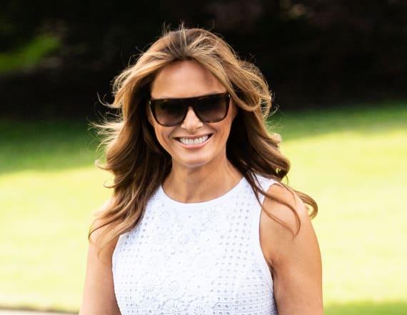 Melania Trump breaks ground on tennis pavilion