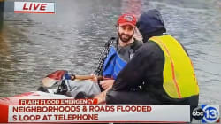 Ouragan Harvey: Ce prêtre s'aventure en kayak… pour aller chercher du vin de