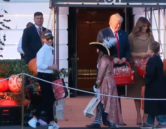 First couple meets 'mini- Melania' at White House