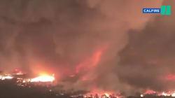 Les images terrifiantes d'une tornade de feu filmée en